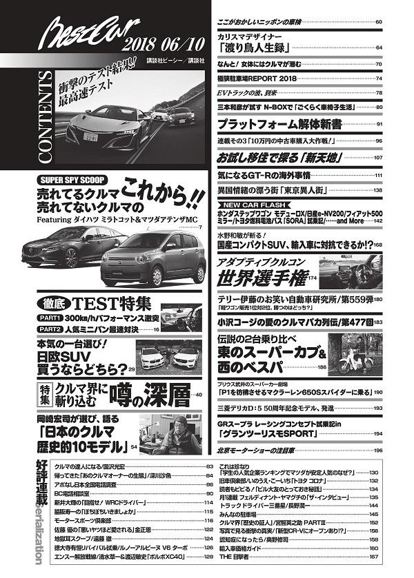 ベストカー 2018年6月10日号 目次