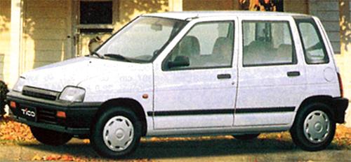 スズキのアルトをベースに韓国大宇で作られたモデル。韓国の軽自動車規格車だ