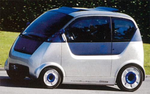 1999年のフランクフルトショーで発表されたコンセプトモデル。背高のっぽのシティビークルだ