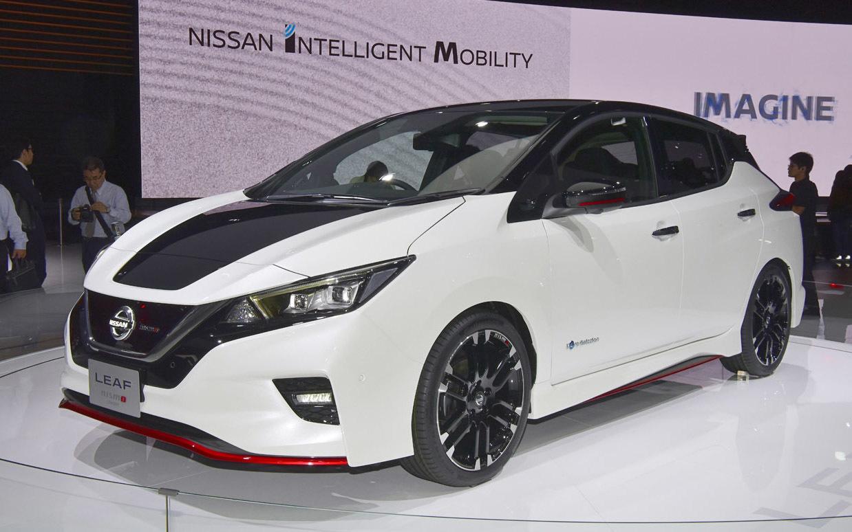 日産リーフのNISMOバージョン。今年日産が新車として導入するのはこの1モデルのみ