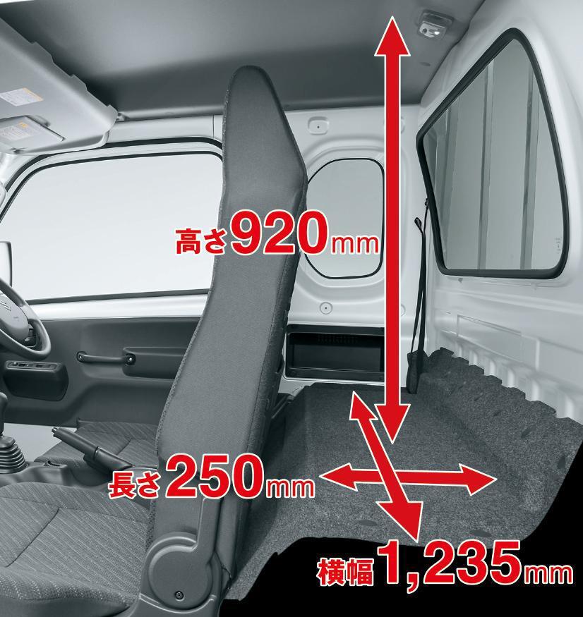 座席の後ろに物置が出来たことで使い勝手は大幅アップ。またこのスペースがリクライニングも可能にしている