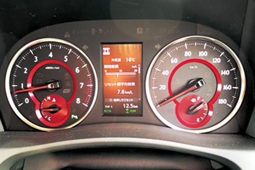 籠坂峠越え直後のヴェルファイアの燃費は7.8km/L。3.5L NAということを考えれば悪くない