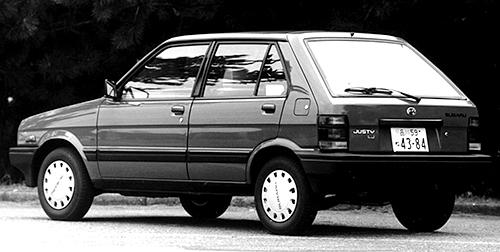 ボディは軽自動車のレックスを拡大したもので、実際にドアやサイドパネルはレックスのものが使われた。1994年まで国内販売され、その後海外ではカルタスのOEMモデルをジャスティとして販売された