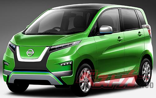 三菱自動車との合弁会社NMKVで開発、生産される軽自動車EVは2021年に登場か?(予想CG)