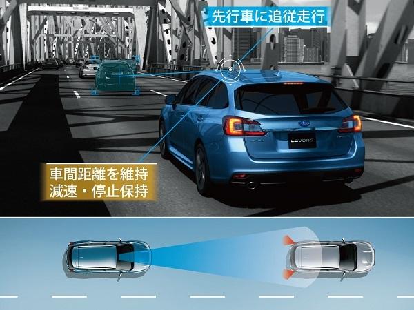 スバルのアイサイト搭載車の多くは、全ての車速で先行車に追従するクルコン機能をもつ。MT車の場合、加減速が自動で行われても、速度に応じたクラッチ操作やギアチェンジは手動でおこなう必要がある