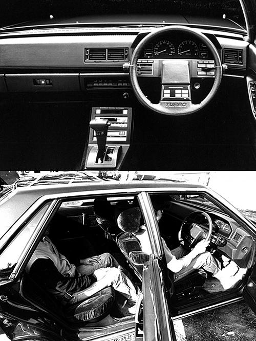 (上)インテリアはスポーティというよりもラグジュアリーな印象。なおスーパーエクシードは三菱車のトップグレードの証しとなる(下)豪華な大型シートは、硬めで長距離の移動もしっかりとした乗り心地を提供した