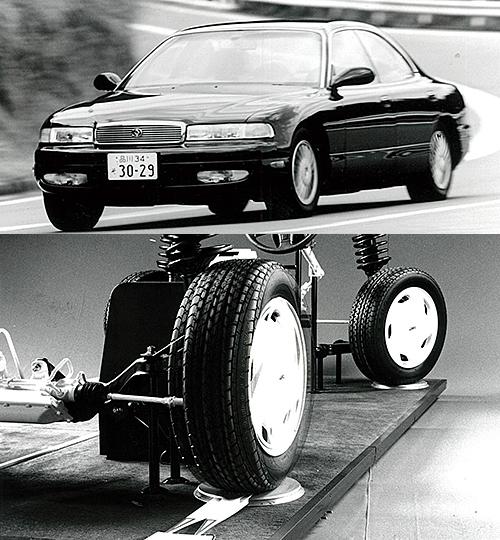 1980年代中盤〜1990年代前半にかけて大流行した4WSだが、後輪が前輪と逆に切れる逆位相操舵は特に後退時の動きに慣れが必要ということもありいっきに採用車が減った。現在は操安性能のための電制後輪ステアがレクサスGSやスカイラインに採用される程度となった。面白い動きだったなぁ