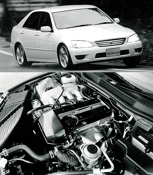 1998年に登場したアルテッツァのスポーティグレードRS200に搭載された2L、直4エンジンが3S-GE。可変バルタイを採用しNAで210psを発揮していた