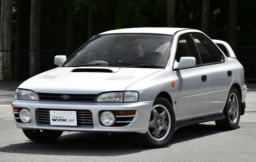 初代インプレッサWRX Sti。月産100台の限定車だった