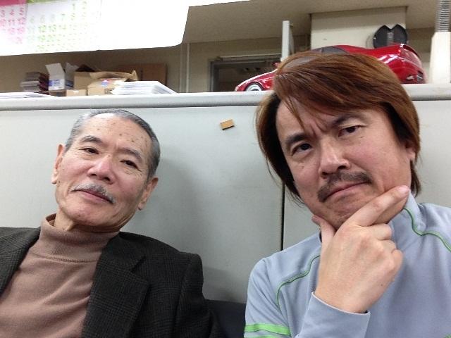 写真左が前澤義雄さん、右が清水草一さん。懐かしのコンビ評論はもう見られないけど、その魂を胸にお届けします