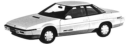 スバルの創業から現在に至るまでリトラクタブルヘッドライトが搭載された唯一の車種だった