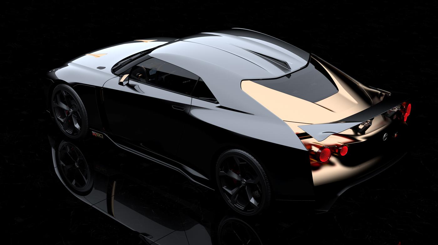 歴代GT-Rのアイデンティティとなるリア丸型ライトももちろん強調されている