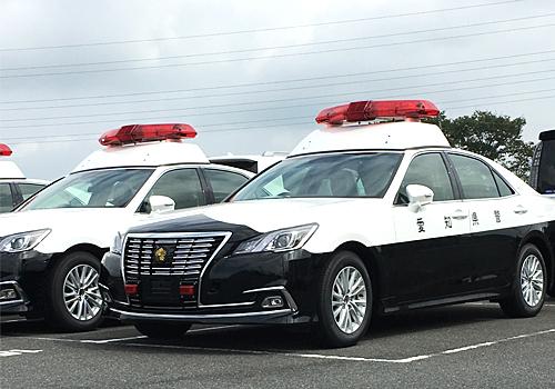 現行クラウンをベースとするパトロール用無線警ら車も続々と納入中