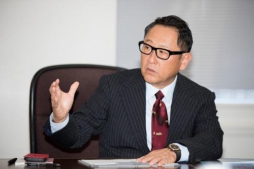 自動車税について強い意志のある豊田会長。ユーザーの負担低減を第一に考えてくれている