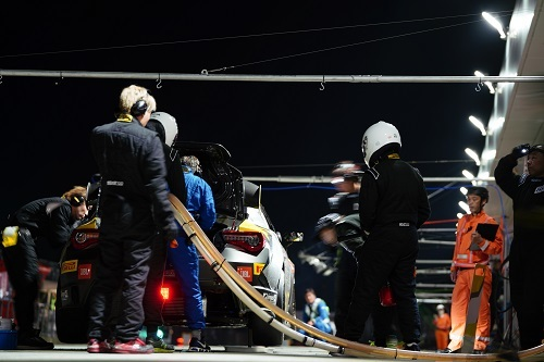 2018年6月に50年ぶりの富士開催となった24時間レース。ご子息の豊田大輔選手も参戦するとあり、豊田会長も駆け付けた