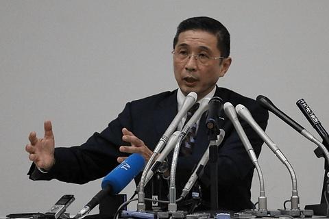 会見に臨んだ日産の西川社長。日本自動車工業会の会長を務めているが、東京モーターショー期間中は、筆頭副会長であるトヨタの豊田章男社長が「会長代行」として公式行事を務めることになった