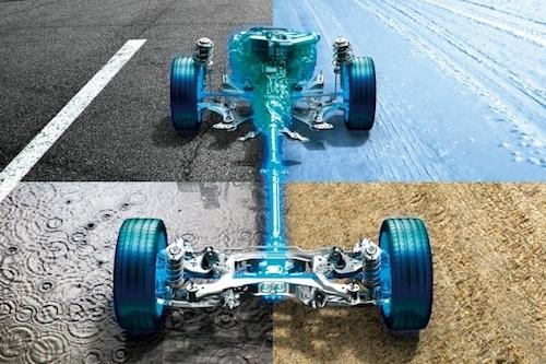 スバルが長年熟成を重ねてきた、左右対称のシンメトリカル4WD