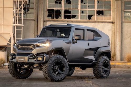米国の新興メーカー、レスヴァニ・モータースが発表した新型SUV「タンク」