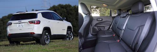 4WDとなるリミテッドの外観(左)。後席はレッグスペース、頭上空間ともに