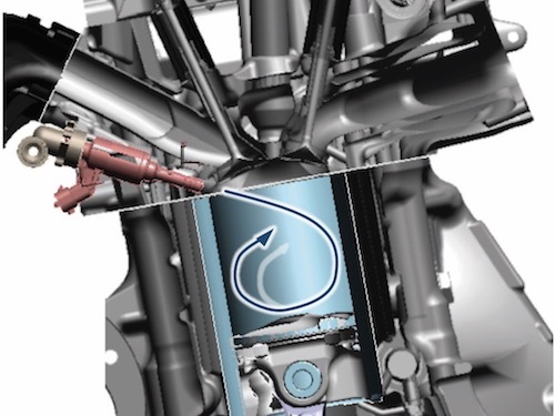 シビックタイプRの直噴ターボエンジン。シリンダー内にガソリンを直接噴射することを直噴という