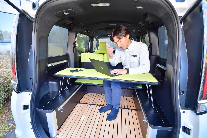 車内泊もできるし、ちょっとお仕事を……なんてことにも使える