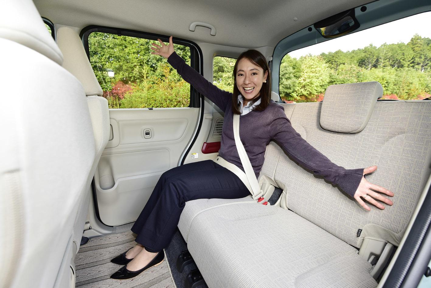 室内高が拡大して、前席も後席も余裕度がアップ