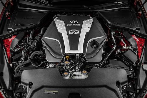 北米向けインフィニティQ50(日本名:スカイライン)に搭載される、自社製のV6、3Lターボエンジン
