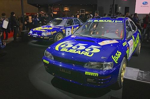 会場にはかつてのWRCカーも展示。モータースポーツを通じて熟成してきたスバル/STIのスポーツカーは新時代へ向かう