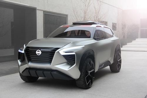 外観はコンセプトカー然としているがグリル形状など新しい日産のデザインエッセンスを表現しているようだ