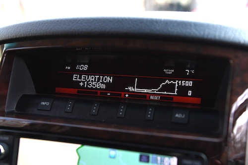 高度計などの4WD装備は充実している