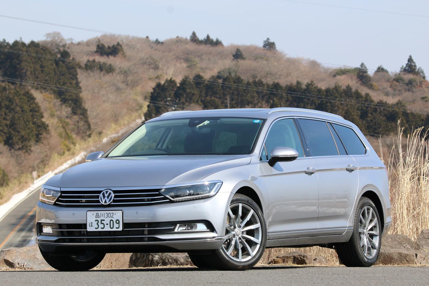 今回日本に初導入されたTDI搭載車は「パサート」。セダンとワゴン(ヴァリアント)同時発売
