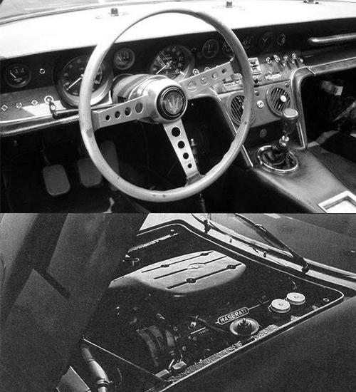 (上)インテリアにはレザーが使われるが、コックピット周りはラグジュアリーというよりもスポーティでレーシングマインドを感じさせる(下)1969年からエンジンは4.7ℓから4.9ℓとなり、最高出力も335psにアップし、最高速度は275㎞/hまで伸びた