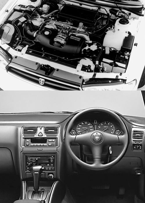 (上)2Lターボエンジンはシーケンシャルタイプ(スバルは2ステージツインターボと呼ぶ)となりGT比較で200psから250psへとパワーアップ、10.15モード燃費も8.0km/Lから9.4km/Lへと向上している(下)内外装のデザインはかつてベンツにも在籍したオリビエ・ブーレイが社内スタッフとともに手がけたもので、落ち着きのあるものだった。