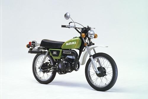 """1971年に発売されたスズキのオフロードバイクTS50、通称""""ハスラー50"""""""