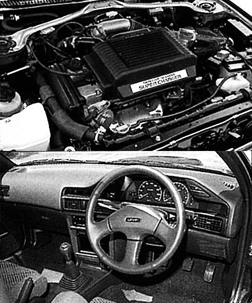 (上)4A-GZE、 1.6ℓスーパーチャージャーはMR2に搭載されるものと基本的に同じで、最高出力は145ps。'89年のマイナーチェンジでハイオク仕様となり、165psとなった(下)スーパーチャージャー採用のGT-Zはアナログメーターとなるが、NAの豪華仕様、GT-APEXにはデジタルメーターがオプションでラインアップされた