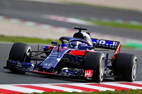 トロロッソ・ホンダ STR-13。スペイン・バルセロナでの2回に渡る合同テストでは計800周以上を周回。これはメルセデス、フェラーリに次ぐ