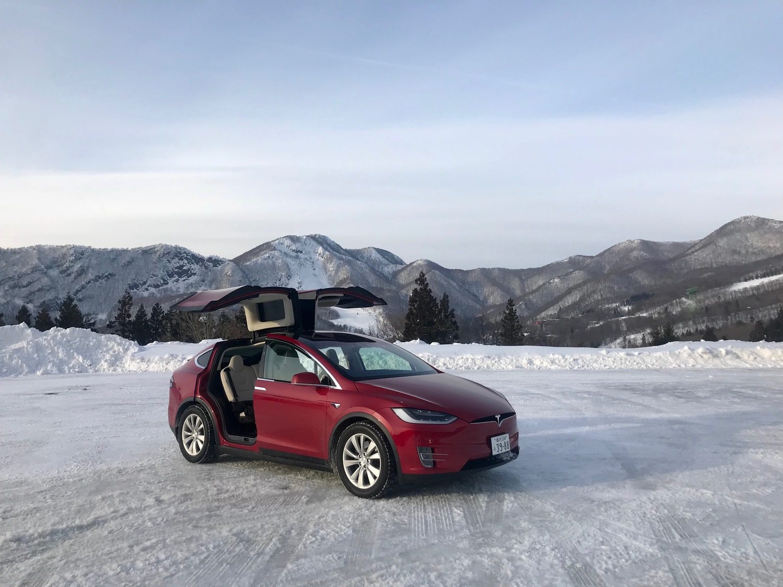 「ファルコンウィング」と呼ばれるガルウィングドアが最大の特徴。案外雪道でも不便なく走れました