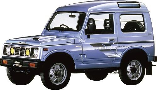 2代目ジムニー【1981~1998年】/写真は1986年登場のJA71型。17年間に渡り販売されたモデル