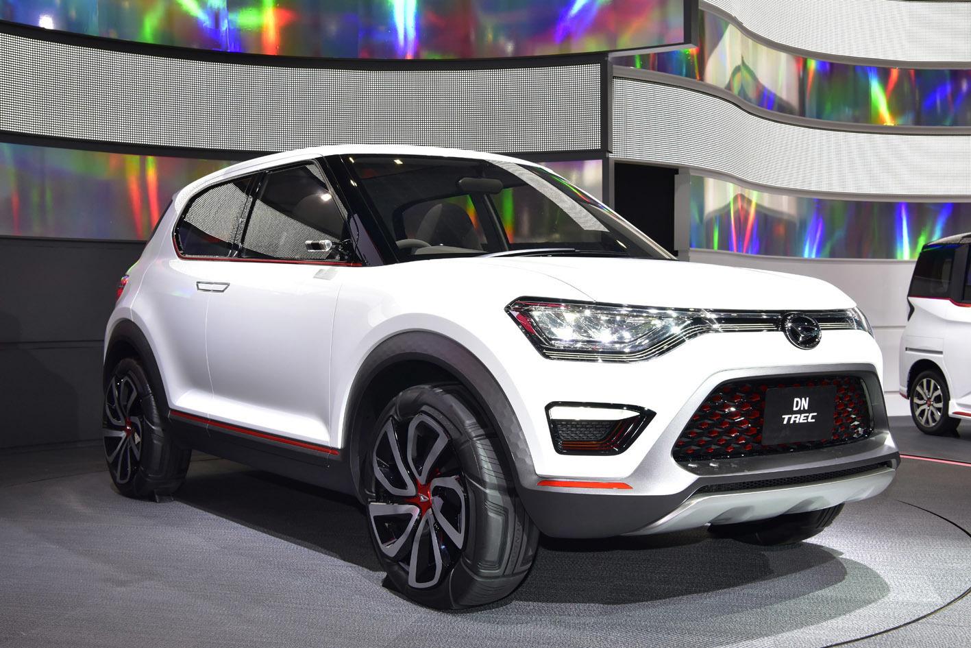 昨年の東京モーターショーに出品されたコンセプトカー「DN TREC」。コンパクトサイズのSUVで市販化に向けて開発中とのこと