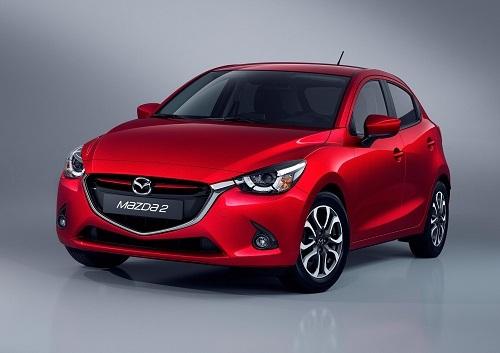 日本国外で「Mazda 2」として販売されるデミオ。同様にアクセラは「Mazda 3」、アテンザは「Mazda 6」などの海外名で販売