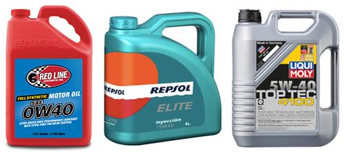 (左)レッドライン/強固な油膜と高い洗浄効果により、オイルの初期性能を維持してくれる高性能オイル。実勢価格1ガロン1万円前後