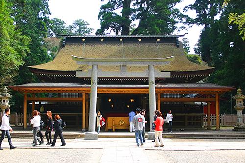 鹿島神宮。必勝祈願など勝負事にいいとされる。