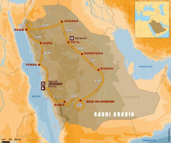 ダカールラリー2021 サウジアラビア王国ロードマップ