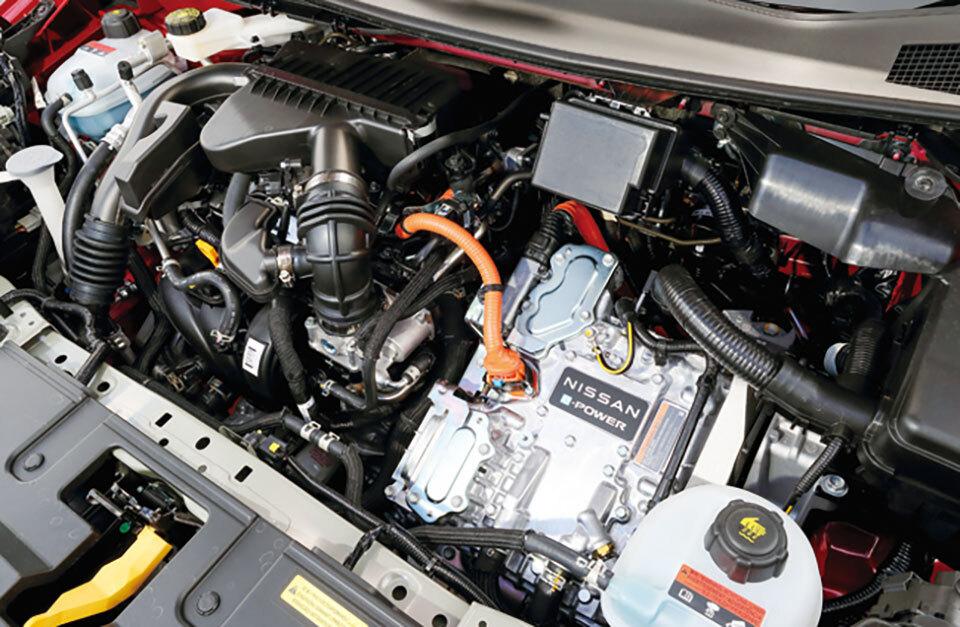 136ps/30.6kgmのモーターはオーラと同じだが、ドライブモードによりノーマルと差別化