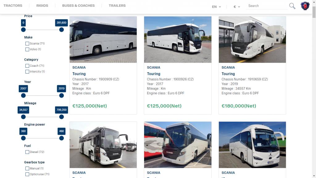 スカニアの認定スーパーハイデッカー中古バスが370万円のお値打ち価格!ただしスペインまで取りに行ってね