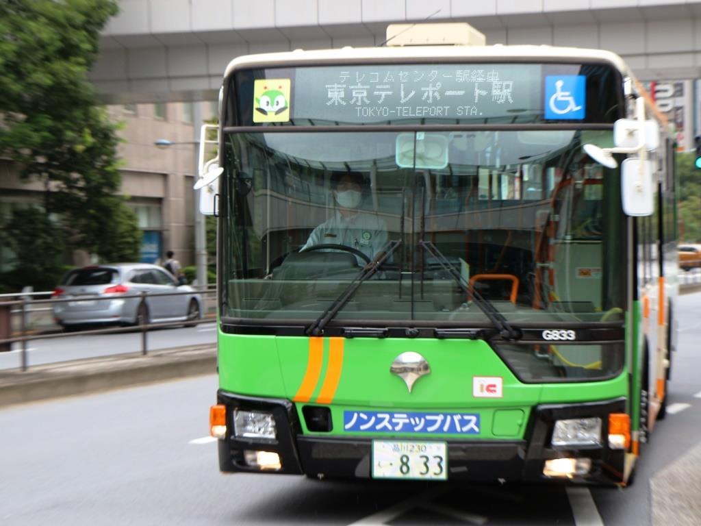 都営バスでレインボーブリッジを渡る「波01出入」でゆりかもめと勝負!